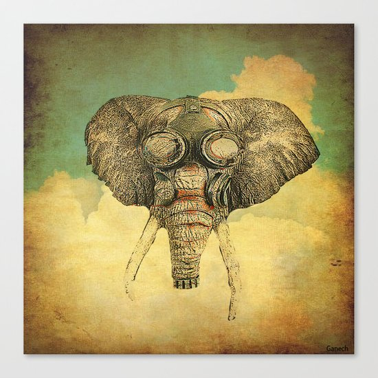 Gas mask for elephant Canvas Print
