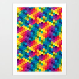 Hexagonized Art Print