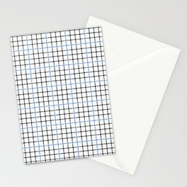 Dotted Grid Weave Blue Black Stationery Cards