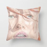 fifth element Throw Pillows featuring The Fifth Element by JadeJonesArt