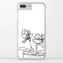 Mason Jar Flowers Clear iPhone Case