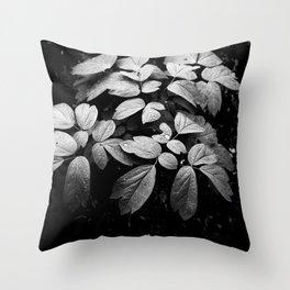 Monochrome Droplet Throw Pillow