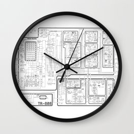 Roland 808 Circuit Wall Clock