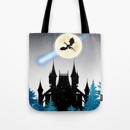 Dragon castle Tote Bag