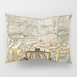 Map Of Israel 1660 Pillow Sham