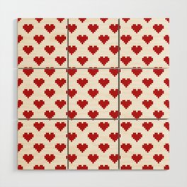 Love Pattern Wood Wall Art