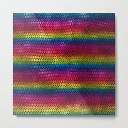 Rainbow Dragon Scales Metal Print