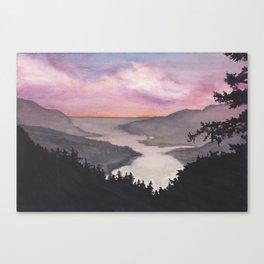 Weekend watercolor Canvas Print