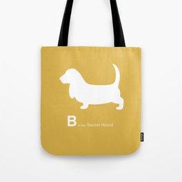 Basset Hound | Dogs series | Mustard Yellow Tote Bag