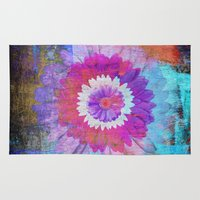 daisies Area & Throw Rugs featuring Daisies by haroulita