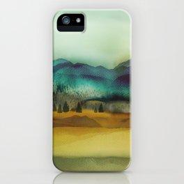 Blue Mountain iPhone Case