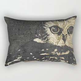 Golden Owl Rectangular Pillow