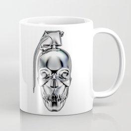 Skull grenade silver Coffee Mug