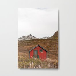 Little Red Cabin Metal Print
