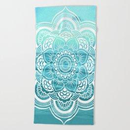 Mandala : Aqua Sunset Waters Beach Towel