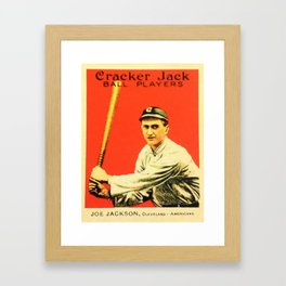 Joe Jackson Cracker Jack ball Players Framed Art Print