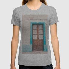 Rustic Door Print #doorprint #door #blueart T-shirt
