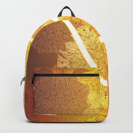 Indian ornament pattern with ohm symbol Backpack