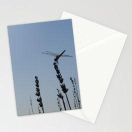 Dragonfly on lavander Stationery Cards