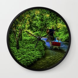 A day with the kids Wall Clock