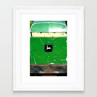 john green Framed Art Prints featuring John Deere Green..... by LeeRay Flowers