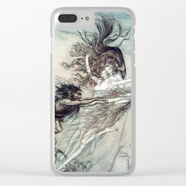 Arthur Rackham - Wagner's The Rhinegold & the Valkyries (1910) - The Rhine-Maidens teasing Alberich Clear iPhone Case