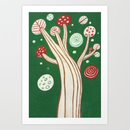 THE HAPPY TREE Art Print