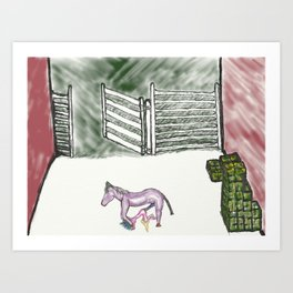 workhorse RA loves making you happy Art Print