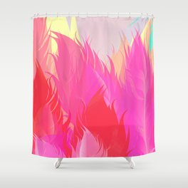 After The Rain Magenta Pink Shower Curtain