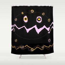 Halloween ghost pumpkin Shower Curtain