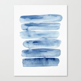 Blue Lines | Watercolor Painting Canvas Print