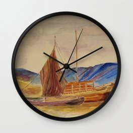 sailing boats with fruit Wall Clock