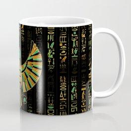 Egyptian Horus Falcon gold and color crystal Coffee Mug