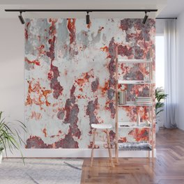 Old painting in rusty metal Wall Mural