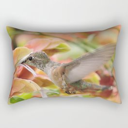Little Ms. Hummingbird in for More Licks Rectangular Pillow
