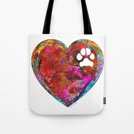 Dog Art - Puppy Love 2 - Sharon Cummings Tote Bag