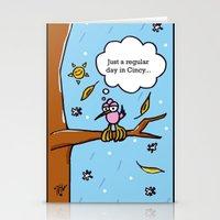 cincinnati Stationery Cards featuring Cincinnati Weather by Nabi Hamdi Mortan