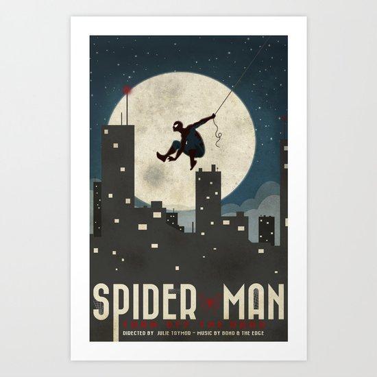 Spider-Man Turn Off the Dark Poster  Art Print