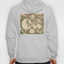 Old map of world (both hemispheres) Hoody