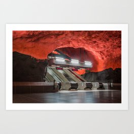 Solna Centrum Metro Station in Stockholm, Sweden III Art Print