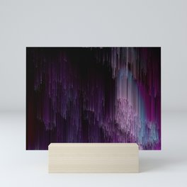 Darkness Glitches Out - Abstract Pixel Art Mini Art Print