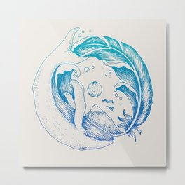Fly High/Swim Deep Metal Print