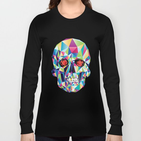 Geometric Candy Skull Long Sleeve T-shirt