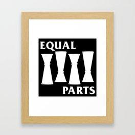 Equal Parts Framed Art Print