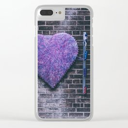 Woven Heart Clear iPhone Case