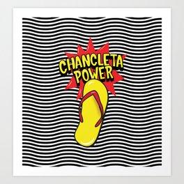 Chancleteo Groovy Art Print