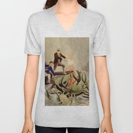 Giant crabs attack Unisex V-Neck