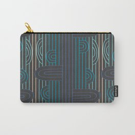 art deco stripe Carry-All Pouch