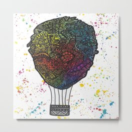 Colourful Hot Air Ballon Metal Print