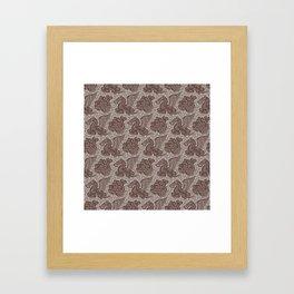 Pegasus Pattern Beige Brown Neutrals Framed Art Print